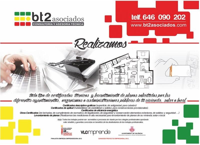 certificados tecnicos Valencia bt2 asociados