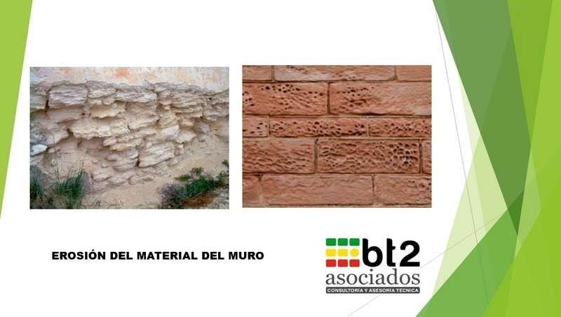 erosión material muro