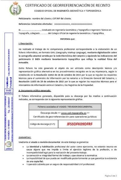 informe de georreferenciación | bt2 asociados