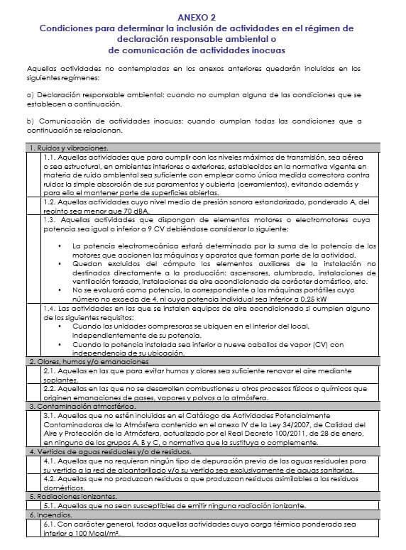 declaracion responsable ambiental Valencia