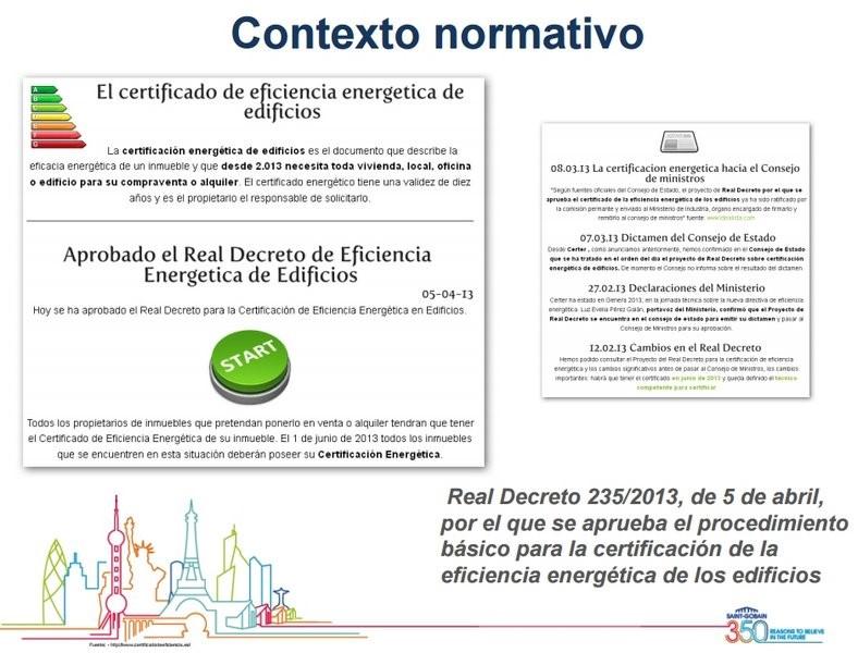 Contexto normativo certificacion energetica edificios