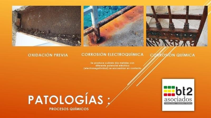 Patologías, procesos químicos degradaciones | bt2 asociados