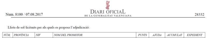 Diario Oficial Plan Renhata 2017