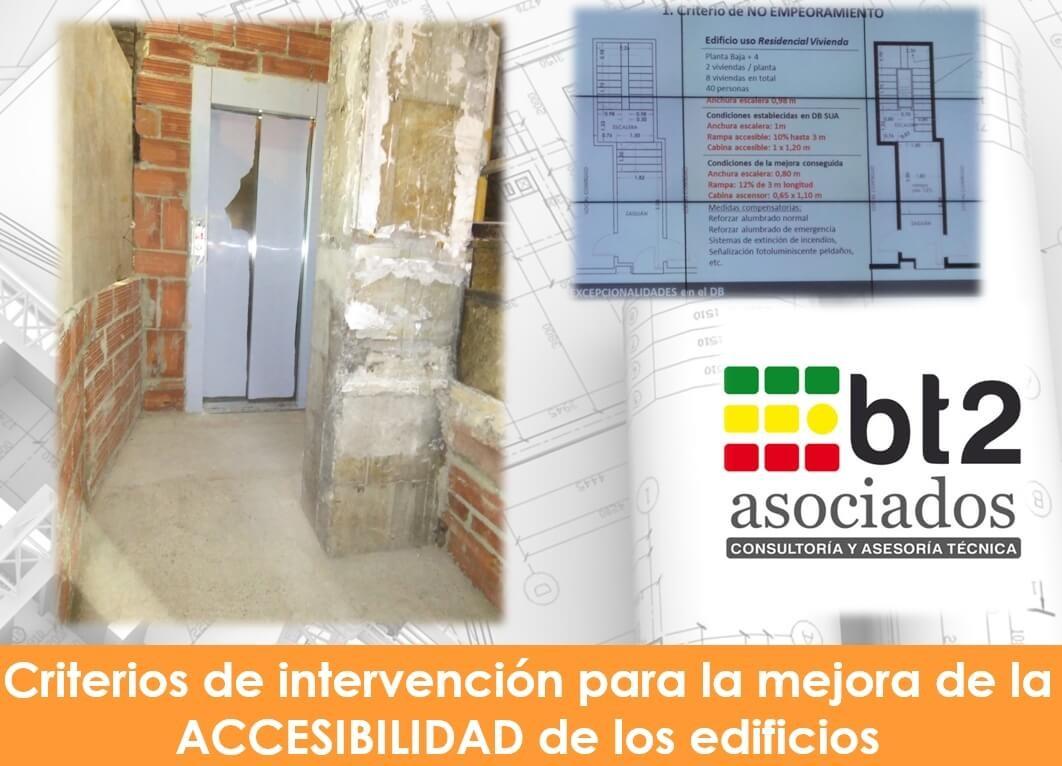 Mejora de accesibilidad de los edificios | bt2 asociados