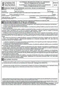 tecnico colaborador plan RENHATA 2018